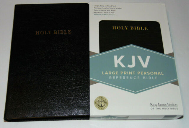 KJV Holy Bible, Large Print, Black Bonded Leather Cover, King James Version