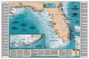 Laminated florida gulf shipwreck chart nautical map ebay laminated florida amp gulf shipwreck chart nautical map gumiabroncs Choice Image