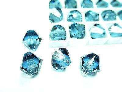 6pcs Swarovski® Elements Denim Blue Bicone 5328 10mm Beads