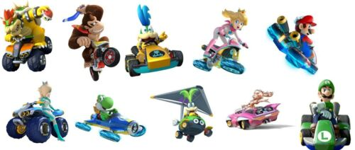 10 super mario kart WALL STICKERS 3 SIZES  PHOTOPAPER