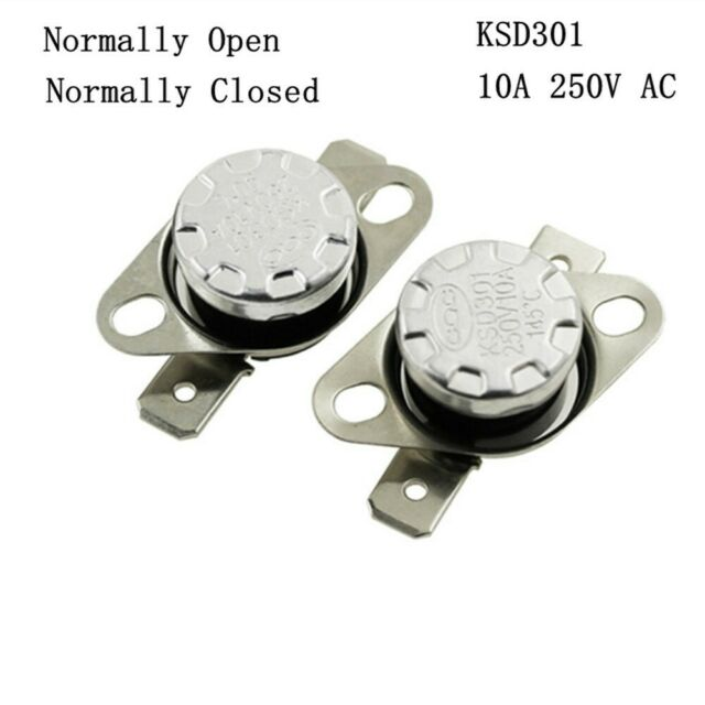 5 pcs Temperature Switch Control Sensor Thermal Thermostat 65°C N.O KSD301