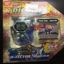 Rare 2002 Digimon Digivice D Tector Scanner System Version 2 Transparent & Blue