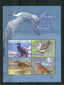 Micronesia 2009 MNH Birds of Pacific 4v M/S Booby Cormorant Noddy Thick-knee