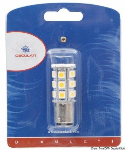 Lampadina LED 12//24 V BA15D 2 W 140 lmMarca Osculati14.443.11