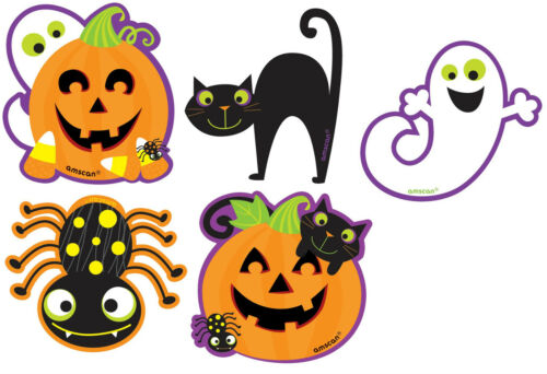 Araignée Halloween mini découpe décorations 1-60pk |Fantôme citrouille chat