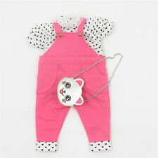 One Set Of Pink Suspender with Short Sleeves & Bag For Fat Girl Blythe Doll