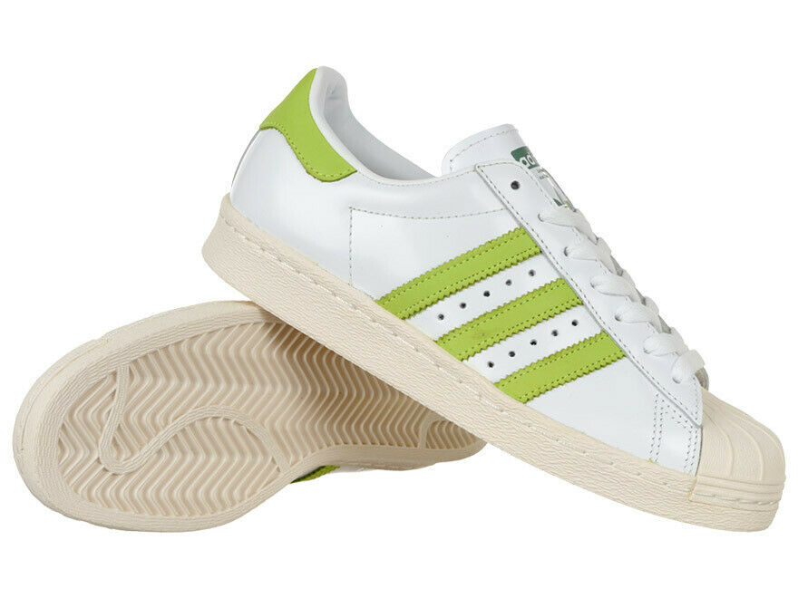 Mens adidas Originals Superstar 80s schuhe Leather Trainers Weiß Casual Turnschuhe