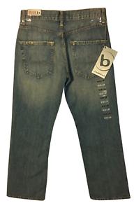 Mens Bullhead Straight Fit Denim Jeans (Size 26 x 28) Light Wash C3564