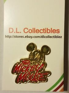 Disney-Mickey-Mouse-Red-and-Gold-Name-Pin