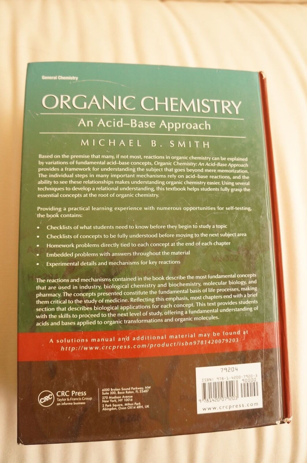Organic Chemistry : An Acid-Base Approach by Michael Smith (2010,  Hardcover) | eBay