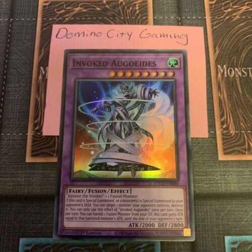 1x Invoked Augoeides ETCO-EN040 Super Rare 1st Edition NM Yugioh