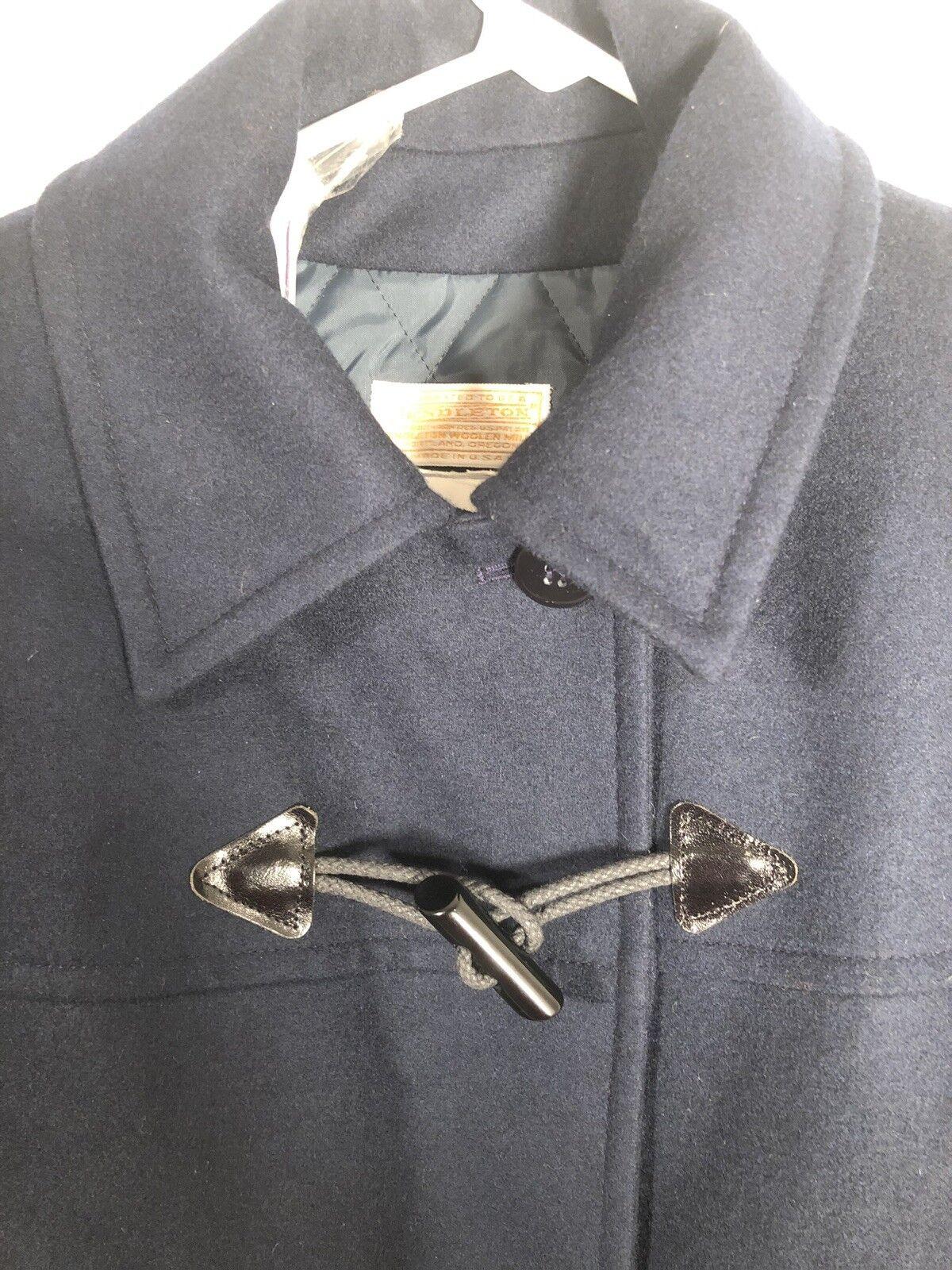 Pendleton Vintage Blue Wool Luxury Toggle Duffel … - image 3