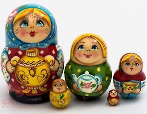 58Style Russian Matryoshka Babushka Wooden Craft Hand Painted Nesting Dolls Toys