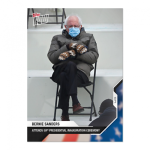 2020-Topps-Now-USA-Election-21-Bernie-Sanders-Inauguration-THE-PIC-MITTENS