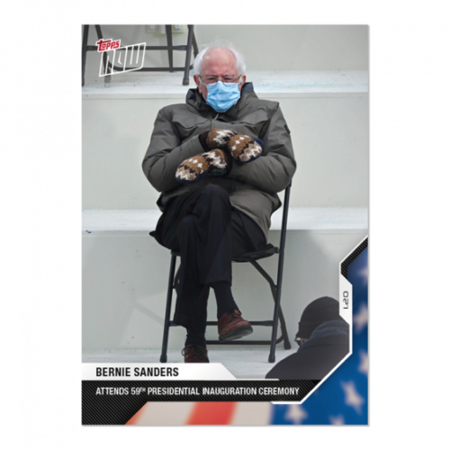 2020 Topps Now USA Election #21 Bernie Sanders Inauguration THE PIC PRESALE