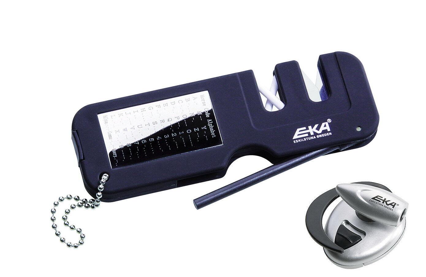 EKA Messerschärfer - Schärfer Schärfer Schärfer mit Feuerstarter und Lampe + Morsealphabet -240700 fd8a02