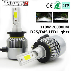 110W D2SD4S 26000LM CREE Car LED Headlight Kit Auto Driving Beam