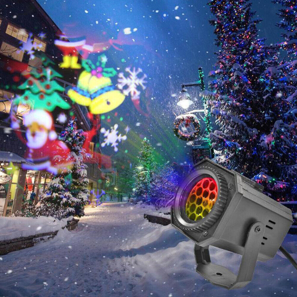 Xmas Stage Lighting 6 Patterns Atmosphere Projector LED RGB KTV Show Party Light