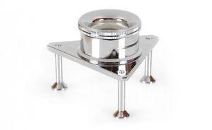 Dreibein-lupe 10x21mm Verchromt / Magnifier Standlupe