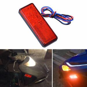 Rot-24-LED-Motorrad-Rund-Ruecklicht-Bremsleuchte-m-Reflektor-Rueckstrahler-H2O8