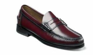 d3b68a695c0 Florsheim Men s Berkley Moc Toe Penny Loafer Burgundy Shoes 17058-05 ...