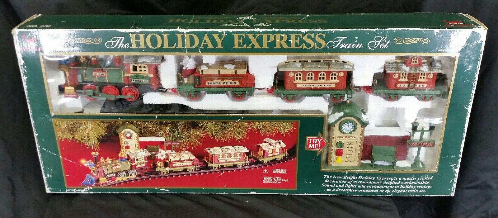 Vintage Rara nuevos brillante de las vacaciones, Conjunto de tren expreso   178 Conjunto de tren de Navidad