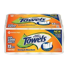 Member's Mark 10000655 Super Premium 15 Rolls Paper Towels - White