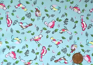 SKYBLUE WITH SMALL PINK BIRDS100 COTTON FABRIC FQ - <span itemprop=availableAtOrFrom>Norwich, United Kingdom</span> - Fabric cut to the buyer's requirements cannot be returned. The Buyer must pay postage and packaging costs Most purchases from business sellers are protected by the Consumer Contract Regul - Norwich, United Kingdom