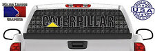 Caterpillar CAT Hoe Heavy Equipment BACK Window Graphic Perforated Decal Truck