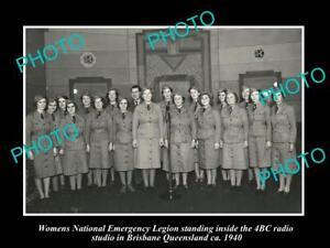 OLD-LARGE-HISTORIC-PHOTO-OF-THE-WOMENS-NATIONAL-EMERGENCY-LEGION-1940-BRISBANE-3
