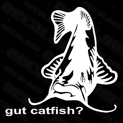 PAIR OF CATFISH  WINDOW DECALS STICKERS