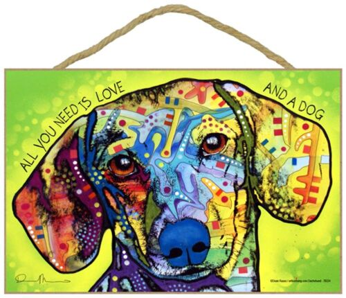 All You Need is Love /& a Dog 7 x 10.5 Dachshund Sign