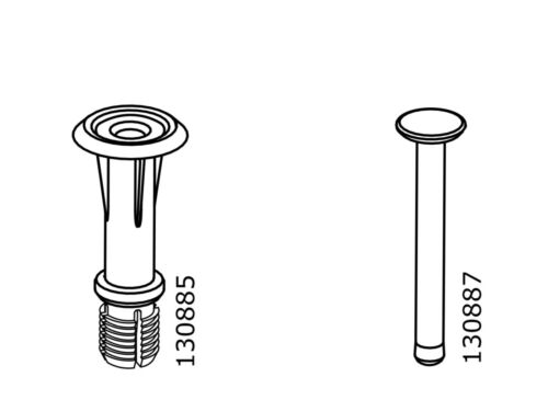 x IKEA # 130885 # 130887 Gray Plastic Screw With Plug Dowel replacement Part 1