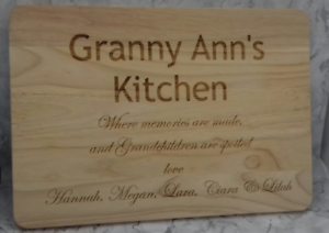 Any Message Laser Engraved Personalised Wooden Cheese or Chopping Board