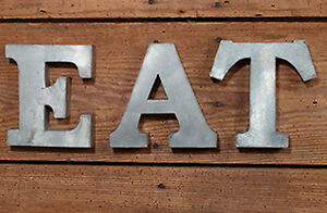 Eat Wall Art e.a.t letters galvanized metal wall art kitchen decor farmhouse