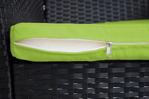 cojines verde grupo de asiento antracita 2-1-1 Poly-ratán jardín conjunto de-Hamar