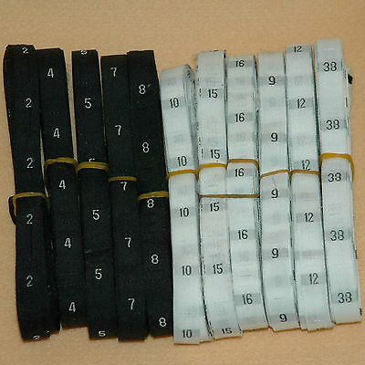 500 Pcs Woven Clothing Number Size Tags Labels Diy Sewing Black White Wholesale