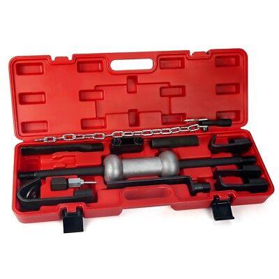 13PC Heavy Duty Dent Puller w/10lbs Slide Hammer Auto Body Truck Repair Tool Kit