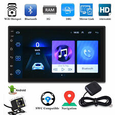 2 Din 7'' Car Autoradio Android 8.1 Navigatore GPS Bluetooth WIFI USB/FM Mirror