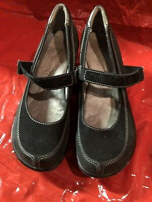 Clothing, Shoes & Accessories Jambu Dublin Black Leather Wedge Shoes *free Ship* Women's Size 8 8-1/2 Durable Modeling