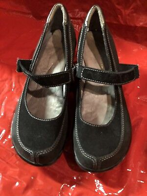 Jambu Dublin Black Leather Wedge Shoes *free Ship* Women's Size 8 8-1/2 Durable Modeling Comfort Shoes