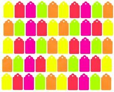 100 Blank Merchandise Price Tags Retail Coupon Label 1 14 X 34 Colors 5
