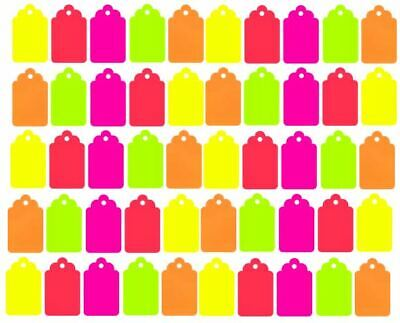 """500 Blank Merchandise Price Tags Retail String Coupon Label 1.25/""""  x .75/"""""""