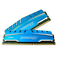 Crucial 16 GB UDIMM 1600 MHz PC3-12800 DDR3 Memory (BLS2K8G3D169DS3) Random Access Memory (RAM)