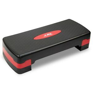 Yoga. Cardio Great For Home Gym JLL Aerobic Exercise Stepper With Either 2 or 3 Adjustable Step Levels