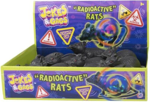 Ratto radioattivi Halloween Accessorio Giocattolo Topo Spaventoso Giocattolo Scherzo UK