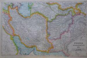 1919-MAP-PERSIA-AFGHANISTAN-BALUCHISTAN-PUNJAB-KABUL-KHURASAN-MAZANDERAN