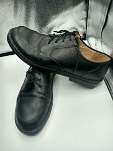 finn comfort black leather bicycle toe casual walking