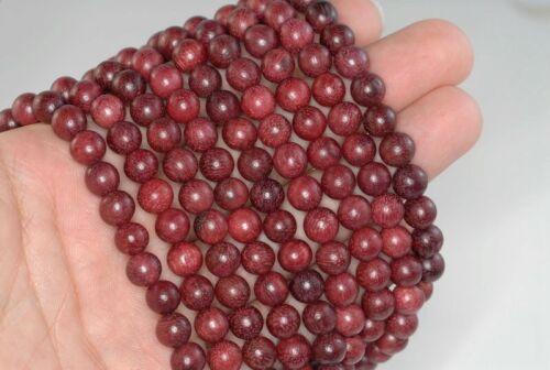 6mm 108PCS Natural Purple Rosewood Mala Meditation Beads Round 90182443-391