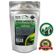 Moringa Tea Organic 30 Bags 100 Pure Antioxidant-Rich Energy Booster